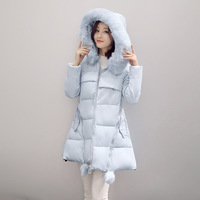 For The Pregnant 2017 Winter New Style Fashion Maternity Dress Thick Hooded Long Cotton Clothes
