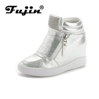 Fujin Brand Autumn Winter Platform Wedge Heel Boots Women Shoes With Increased Platform Sole Female Fashion