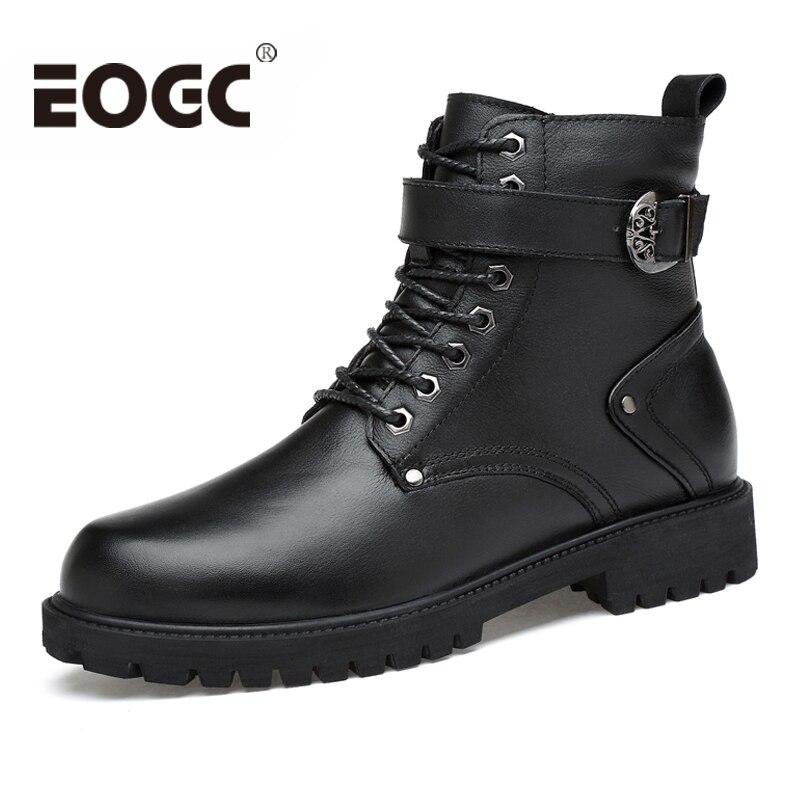 الجلود والحبوب الكاملة الرجال الشتاء الأحذية اليدوية الخريف الشتاء الرجال الأحذية حجم 35 46 الأزياء الدافئة للجنسين حذاء من الجلد الذكور الثلوج-في أحذية الثلج من أحذية على  مجموعة 1
