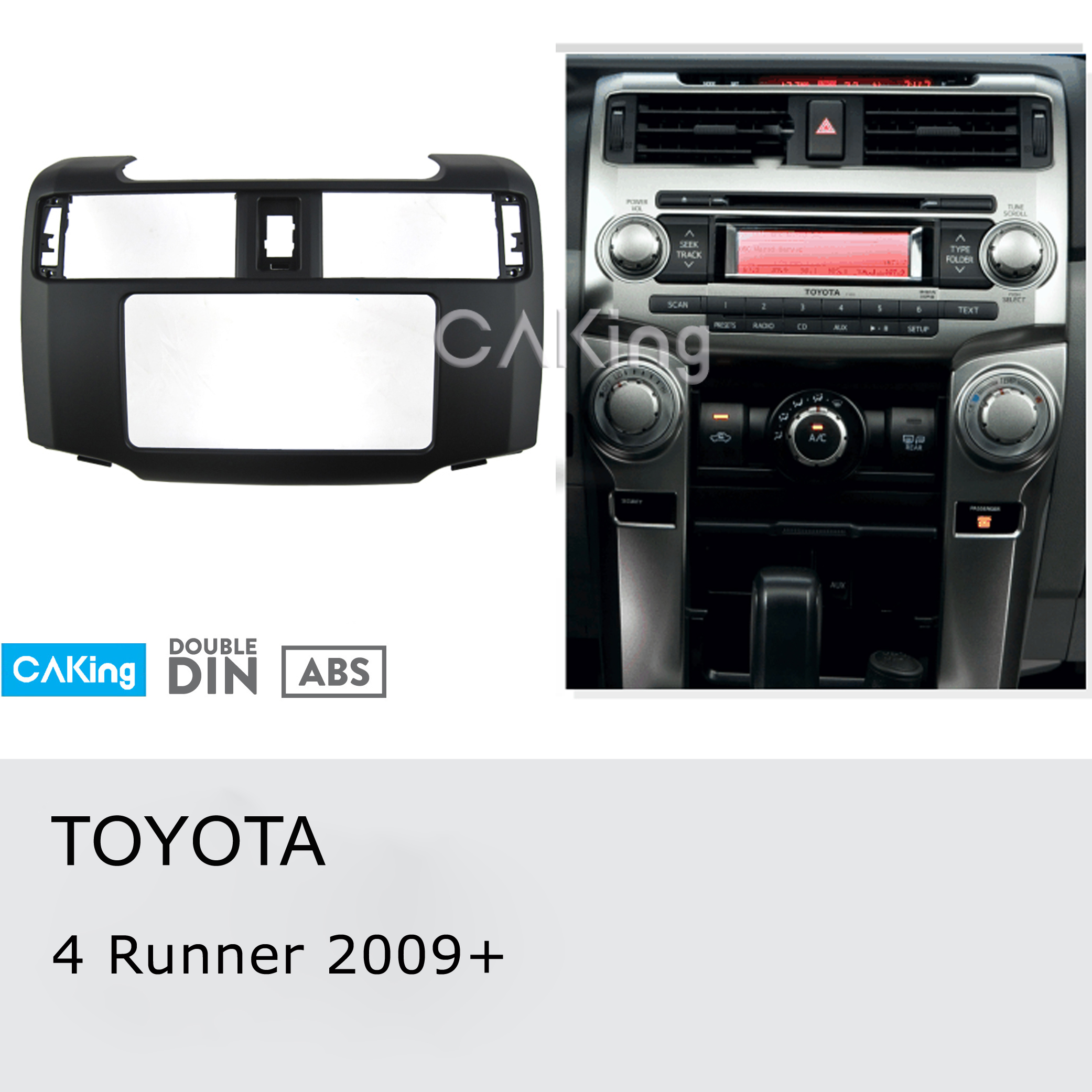 Car Fascia Radio Panel for Toyota 4 Runner 2009 Dash Kit Install Mount Console Facia Plate