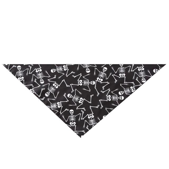 5PCS/Set Halloween Dog Triangular Bandage Pet Saliva Towel Dog Scarf Skull Pumpkin Print Bandanas for Halloween Party Decor 20E 5
