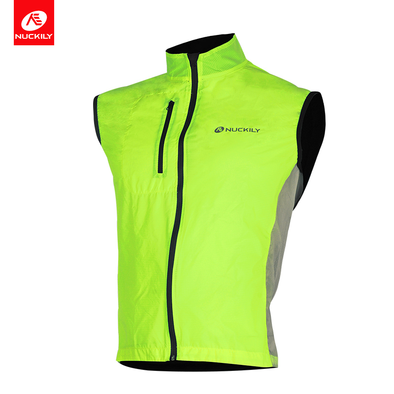 NUCKILY Reflective Cycle Vest Quick Dry Sleeveless Cycling Jersey Water  Resistant Bike Vest Sport Apparel V100 f6a692270