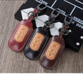 High Quality Leather Car Key Case Ring Holder Cover Fit For Mazda 2 3 6 CX-7 CX-9 MX-5 CX5 ATENZA Axela 2/3 Button Accessories