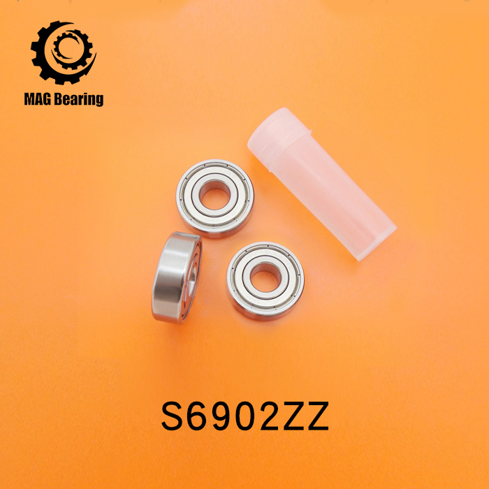 10pcs S6902ZZ SS6902ZZ SB6902ZZ stainless steel 440C deep groove ball bearing 15x28x7mm S61902ZZ 61902 6902 gcr15 6326 zz or 6326 2rs 130x280x58mm high precision deep groove ball bearings abec 1 p0