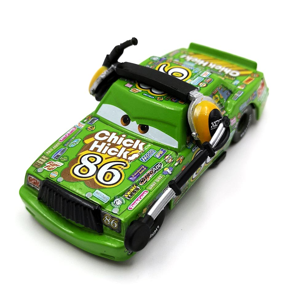 Disney Weathers 3 1:55 Papel No86 Chick Hicks Pixar Cars Diecast Metal Modelo de Carro Novo Ano Novo 2018 Melhores Presentes para Meninos Crianças