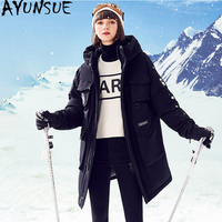 AYUNSUE Women Clothes 2020 Down Jacket Woman Hooded Long Coats Winter Coat Women Canada Korean Parka Chaqueta Mujer MY1551