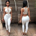 2 colors Women New Fashion Backless Rompers and Jumpsuit Womens Sexy Sleeveless Playsuit Bodysuits Elegant Bandage Jumpsuits