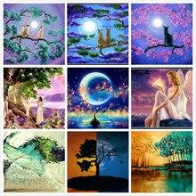 ФОТО 5d diy diamond painting cat embroidery fairy cross stitch tree kits rhinestone mosaic pattern home decor painting