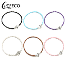 CUTEECO High Quality DIY Brand Bracelet Jewelry Leather Chain For Women 6 Color Simple Couple Charm Rope Fit