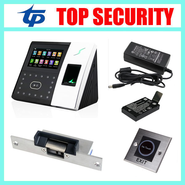 Good quality face and fingerprint door access control system TCP/IP USB iface702 biometric facial time attendance time clock tcp ip biometric face recognition door access control system with fingerprint reader and back up battery door access controller