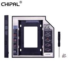 CHIPAL 2nd HDD Caddy 12,7 мм Алюминий Optibay SATA 3,0 коробка для жесткого диска корпус DVD адаптер 2,5 SSD 2 ТБ для ноутбука CD-ROM