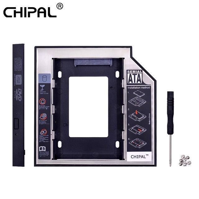 CHIPAL 2nd HDD Caddy 12.7 mét Nhôm Optibay SATA 3.0 Ổ Đĩa Cứng Hộp Bao Vây DVD 2.5 SSD 2 tb Cho Máy Tính Xách Tay CD-ROM