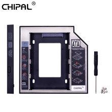 Chipal 2nd HDD Caddy 12.7 Mm Aluminium Optibay SATA 3.0 Hard Disk Drive Kandang Kotak DVD Adaptor 2.5 SSD 2TB untuk Laptop CD-ROM(China)
