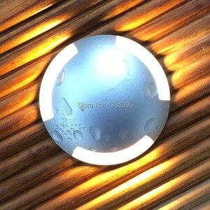 Image 2 - Cree led床デッキライト12v 24v 3ワットIP67 oudoor地下埋設ランプ外装陥凹壁階段テラス舗装スポットライト