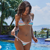 Ariel Sarah Striped Bikini 2018 Sexy Swimwear Swimsuit Women Bandage Bikini Set Halter Bathing Suit Biquini