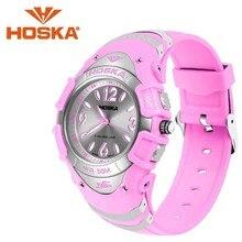 Marque hoska étudiant femmes de montres à quartz montre femmes sport en plein air étanche montre femme quartz-montre h804-n