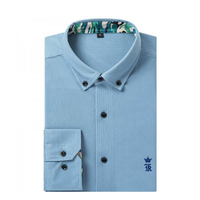 Dudalina Camisa Social Masculina Corduroy Long Sleeve Shirt Men Casual Embroidery Men Dress Shirts Camisas Para