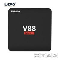 ILEPO V88 MARS II Android 7 1 Smart TV Box RK3229 Quad Core 2GB 16GB 100M