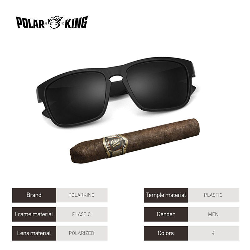 89e1847470c8 POLARKING Brand Polarized Sunglasses For Men Plastic Oculos de sol Men s  Fashion Square Driving Eyewear ...