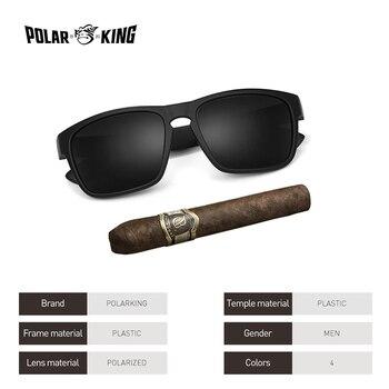 8ef62fed52 POLARKING Brand Polarized Sunglasses For Men Plastic Oculos de sol ...
