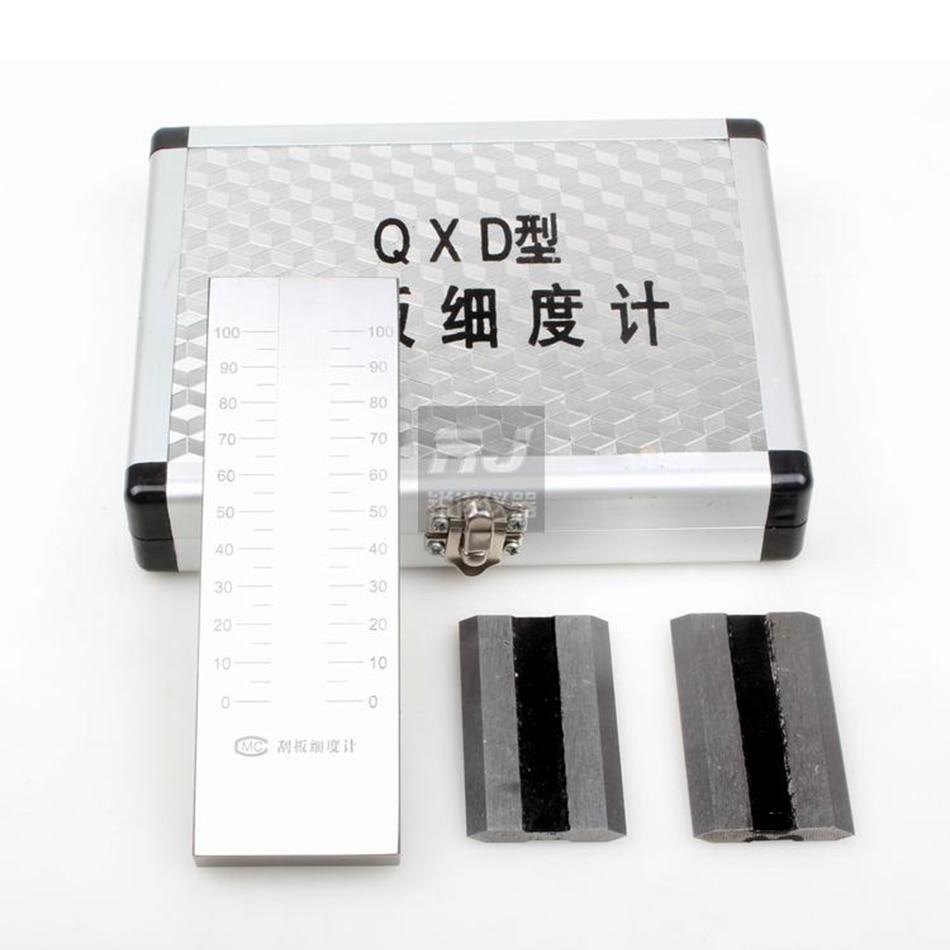 [ステンレス鋼qxdスクレーパー繊度メーター] 0-25/50/100/150繊度ボードコーティング粒子繊度メーター