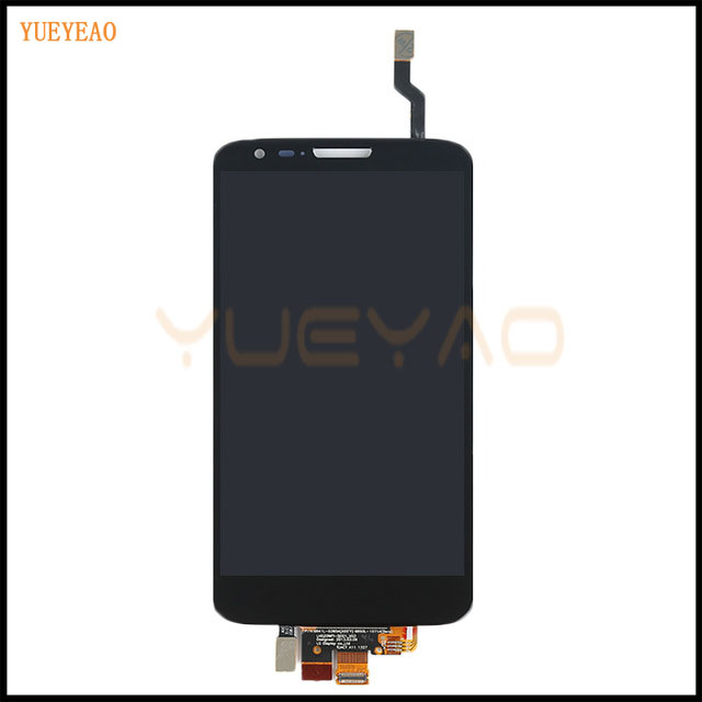 цены  YUEYAO Black/White For LG Optimus G2 D802 LCD Display Touch Screen With Digitizer Full Assembly