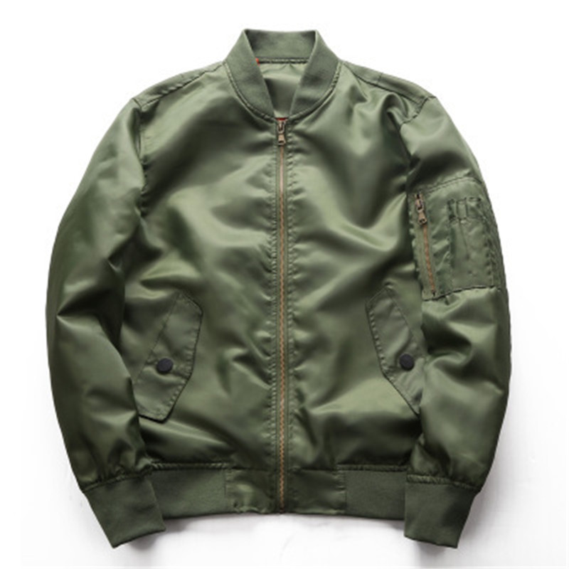 New arrival 2019 spring autumn army green military jacket men baseball collar loose fit plus size coat