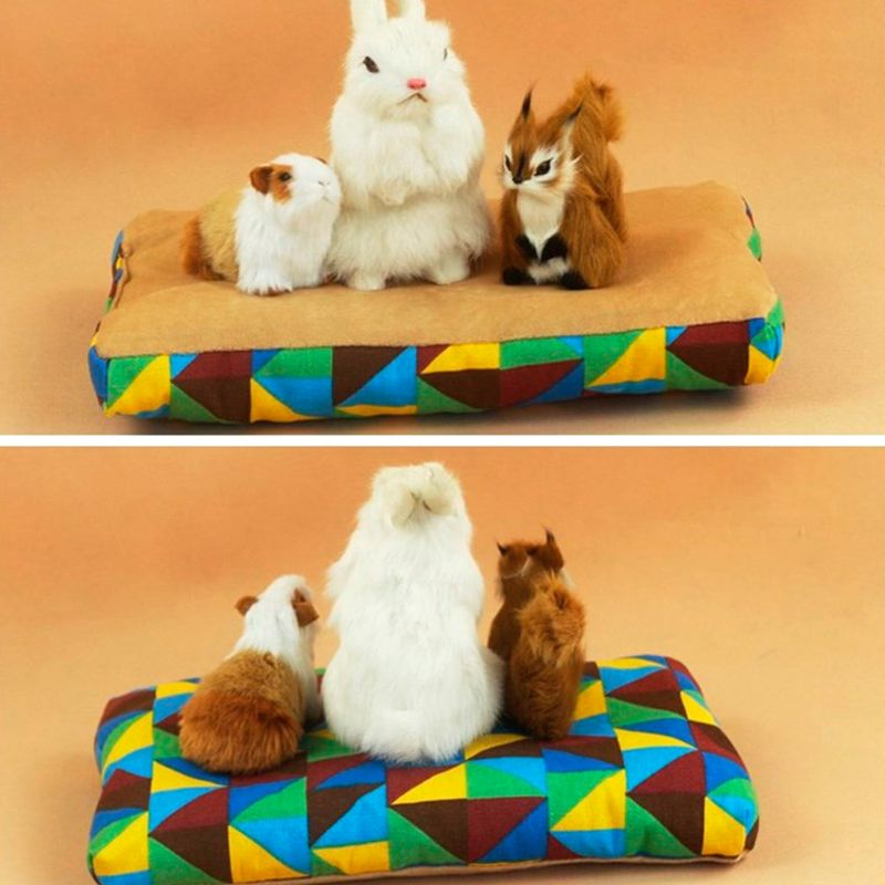 Small Pet Guinea Pig Hamster Bed House Winter Warm Squirrel Hedgehog Rabbit Bed Cushion Mat House Nest Hamster Accessories