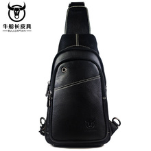 BULL CAPTAIN Small sling chest bag men causal messenger Male Shoulder Bags Fashion Genuine Leather Crossbody 2COLOR