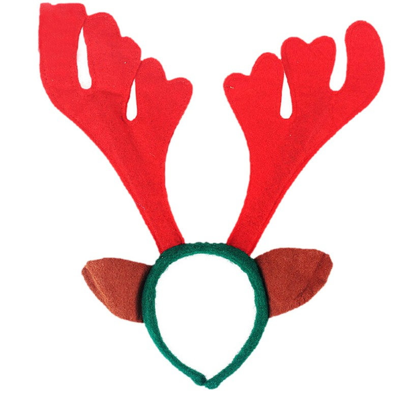 hanging ornaments Christmas antlers head hoop headdress Head hoop Women Girls enfeites de natal adornos navidad