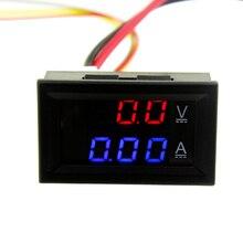 1Pcs Top Quality DC 100V 10A Voltmeter Ammeter Blue + Red LED Amp Dual Digital Volt Meter Gauge