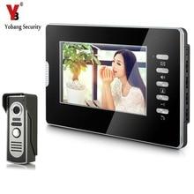 YobangSecurity Wired 7″Inch Monitor Video Intercom Doorbell Door Phone Video Intercom Entry Access System 1 Camera 1 Monitor