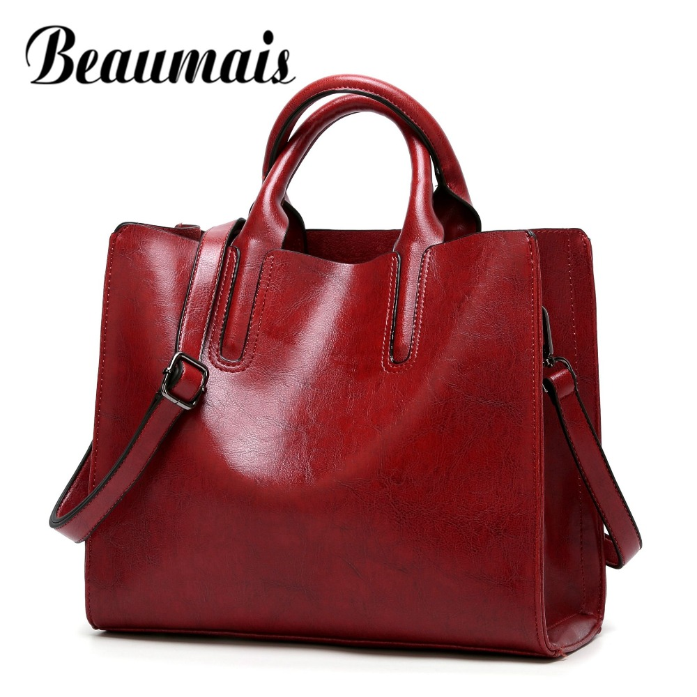 c2d7f759636 US $13.67 73% OFF|Beaumais Fashion Bags For Women 2019 Luxury Handbags  Women Bag Designer Soft Women Messenger Bags Female Shoulder Bag DF0013-in  ...