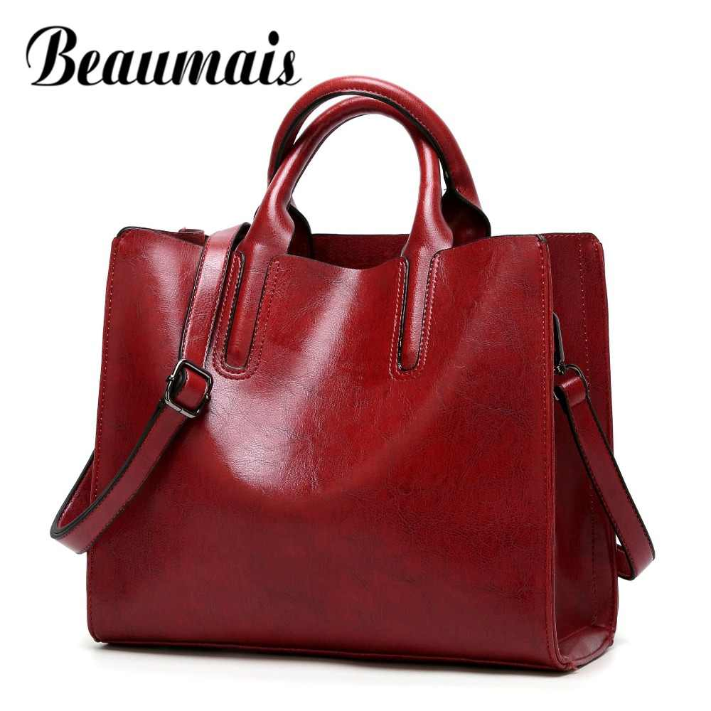 Beaumais Fashion Bags For Women 2019 Luxury Handbags Women Bag Designer Soft Women Messenger Bags Female Shoulder Bag DF0013