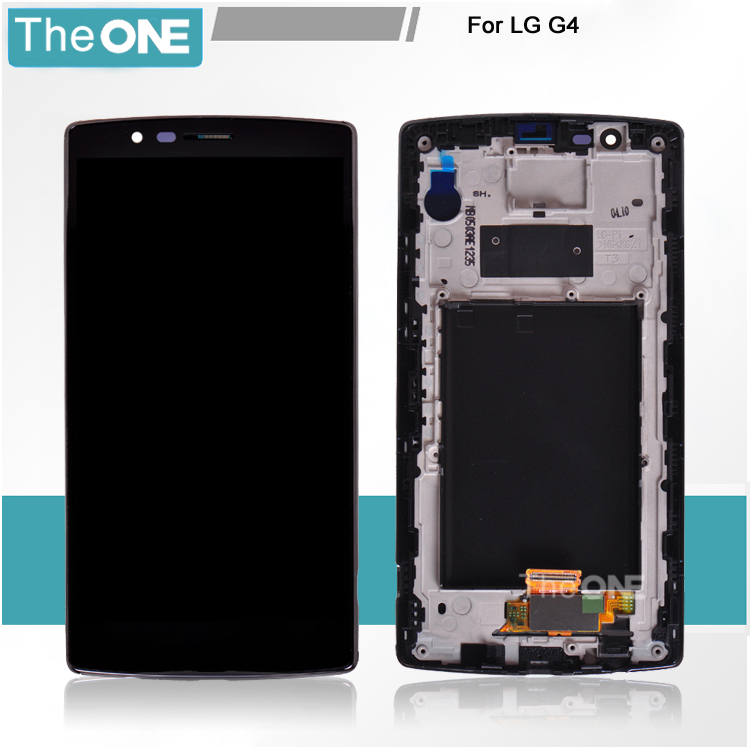 Free DHL Black with Frame LCD Display+Touch screen digitizer lens For LG G4 H815 H811 H810 VS986 VS999 US991 F500 assembly lcd screen display touch panel digitizer with frame for htc one m9 black or silver or gold free shipping