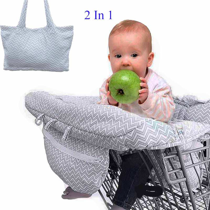 Folding Baby Shopping Cart Cover Safety Security Portable Infant Highchair Cover Children Push Cart Seat Mat Trolley Pad Protect