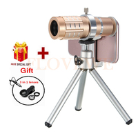 Camera Lens Kit HD 12x Telephoto Zoom Lentes For IPhone 7 6 5 4 S Xiaomi