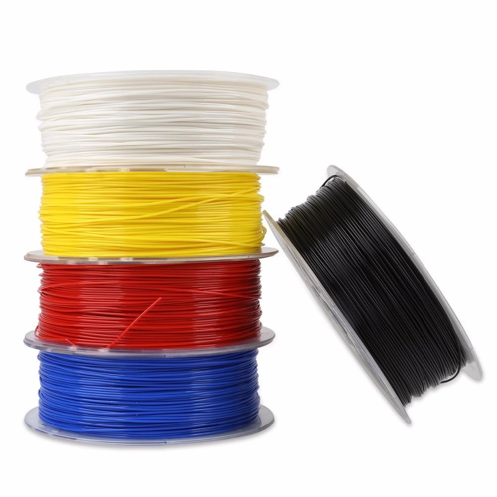 1 kg 1.75mm 3D Imprimante PLA Filament Noir/Bleu/Gris/Rouge/Transparent/Blanc/ jaune Pour CR-10 Ender-3 A8
