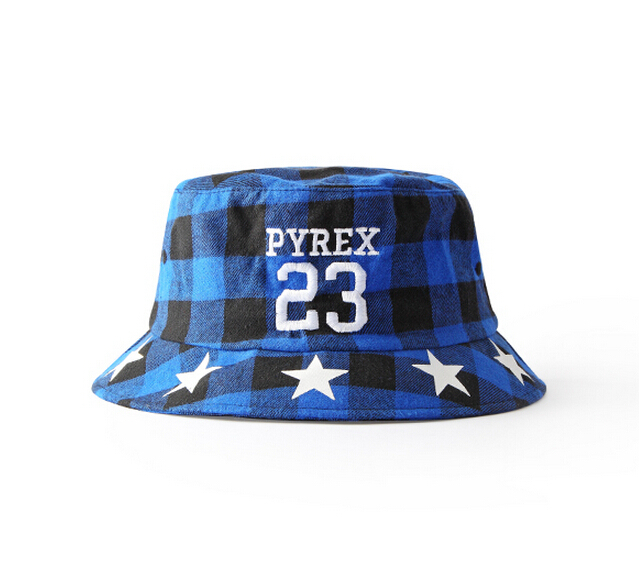 915f6eeea38 2015 New Fashion Outdoor Fishing Hat Pyrex 23 Printed Plaid Bucket Hat Men  Hip Hop Swag Sun Hat Bob Skate Gorras Cayler And Sons