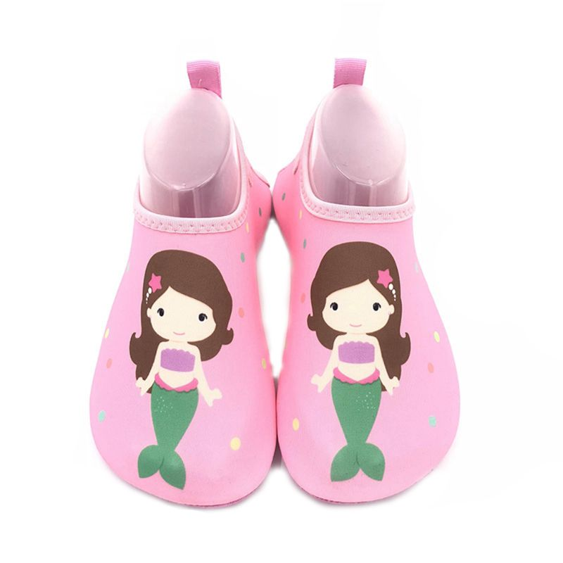 1 Pair Kids Cartoon Swim Shoes Boy Girl Anti Slip Socks Beach Pool Surfing Yoga Not Absorbing Water Lightweight Swimming Access