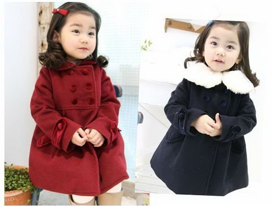 Online Shop toddler girls cute Princess cashmere winter long coat ...