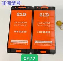2 piezas 21D cristal templado de pegamento completo para Infinix Note 4 10H cubierta de pantalla completa película protectora de pantalla para infinix X572