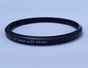 Image 3 - Metalen Bajonet 58 Mm Draad Uv Cpl Filter Mount Camera Lens Adapter Ring Voor Canon Powershot SX520 SX40 SX50 SX60 SX70 Hs