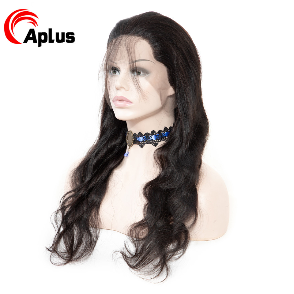 Aplus Body Wave Lace Front Wig Remy Peruvian Lace Front Human Hair Wigs With Baby Hair  10-22 Inches 150% Lace Frontal Hair Wigs