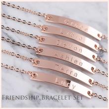 StrollGirl Authentic 925 Sterling Silver Personalized Customization Bracelet Friendship Custom Jewelry Best friend gift
