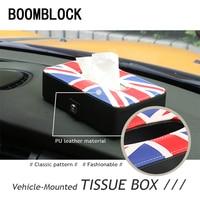 Auto Car Styling Tissue Box Paper Case For Citroen C4 C5 Hyundai Solaris I30 VW Polo T5 Ford Fiesta Fusion Mustang Accessories