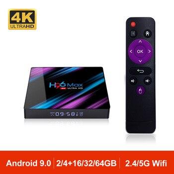 H96MAX Android 9.0 TV Box RK3318 Quad Core 64bit 2.4G/5.8G Wifi BT 4.0 4K HD Media Set Top Box Google VS X96 H96 MAX 2GB 4GB