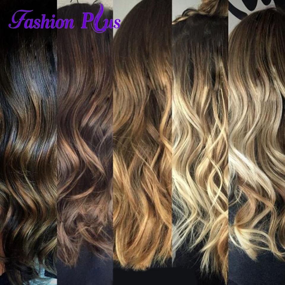 FashionPlus Clip i Mänskliga Hårförlängningar Maskin Tillverkad - Mänskligt hår (vit)