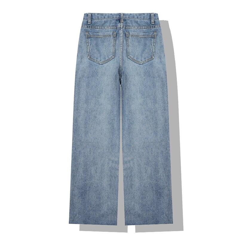 E Sueltos Vaqueros Otoño Nueva Cintura Pantalones Invierno Delgada Moda 1 Rectos Mujer Jeans 2019 UnHRU