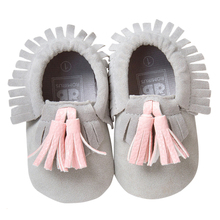 ROMIRUS Baby Moccasin Newbron Baby First Walker Soft Bottom Non-slip Baby Shoes Kids Leather Prewalkers Boots